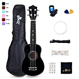Winzz Soprano Ukulele Starter Kit For Beginners with Bag, Clip-On Tuner, Extra Strings