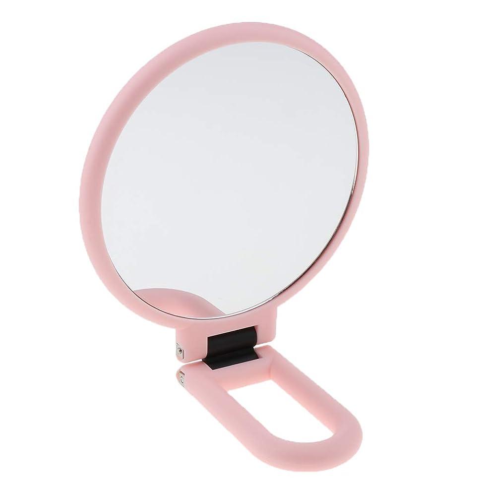 パブ探すトラクターCUTICATE 化粧鏡 ミラー 化粧ミラー 折りたたみ式 両面 拡大鏡 全3選択 - 2倍拡大
