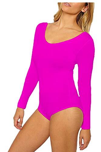 Papaval Mädchen Gymnastikanzug, langärmelig, für Sport, Schule, Tanz, Ballett oder Gymnastik -  Pink -  3-4 Jahre