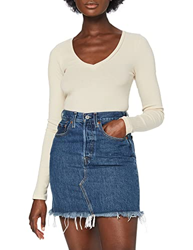 Levi's HR Decon Iconic BF Skirt Falda, Meet In The Middle, 23 para Mujer