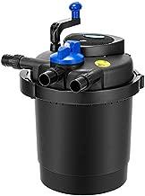 VIVOHOME VH536 CPF-3500 Pressurized Biological Pond Filter with 13-watt UV Sterilizer Light, Up to 2100 Gallons, Black