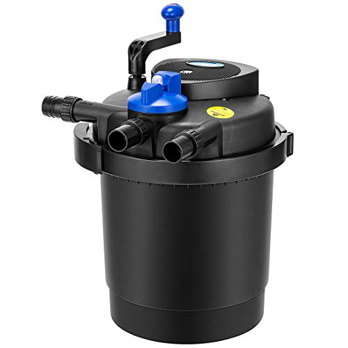 VIVOHOME Pressurized Biological Pond Filter with 13-watt UV Sterilizer Light, Up to 2100 Gallons