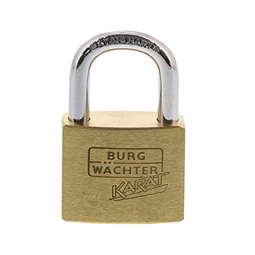 Burg-Wächter Zylinder-Vorhangschloss, 5 mm Bügelstärke, Kneifschutz, 6 Schlüssel, Karat 217 30 SB, Bügelhöhe: 17,5 mm