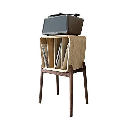 JCNFA planken Octopus Boekenplank/LP Vinyl Record Rack, Kleine Magazine Rack, Krant kabinet, Alle massief hout Boekenkast, Nieuws Stand 19.29 * 13.77 * 33.85in Wood+walnut