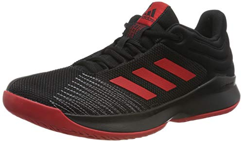 adidas Herren Pro Spark 2018 Low Basketballschuhe, Schwarz (Core Black/Scarlet/Grey Four F17 Core Black/Scarlet/Grey Four F17), 43 1/3 EU