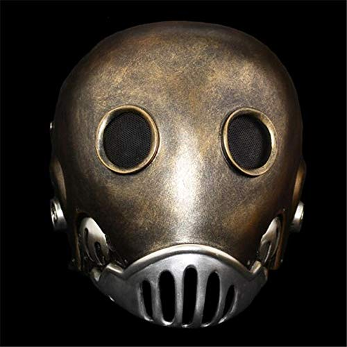 VAWAA Hellboy Uhrwerk Roboter Mann Maske Terror Full Face Alien Harz Masken Kroenen Gesicht Maskerade Halloween Cosply Kostüm Party Requisiten