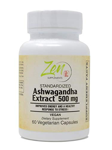 Ashwagandha Extract 500mg - Natural Mood Enhancer Ashwagandha Root Rich in Withanolides, Best Supplement for Anti Anxiety & Anti Stress Support, Immune Support, Thyroid Support - Non-GMO - 60-Vegcaps