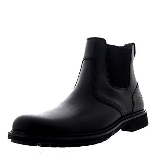 Timberland Herren Stormbucks Chelsea Pull-on Chukka Boots, Schwarz (Black Smooth), 45 EU