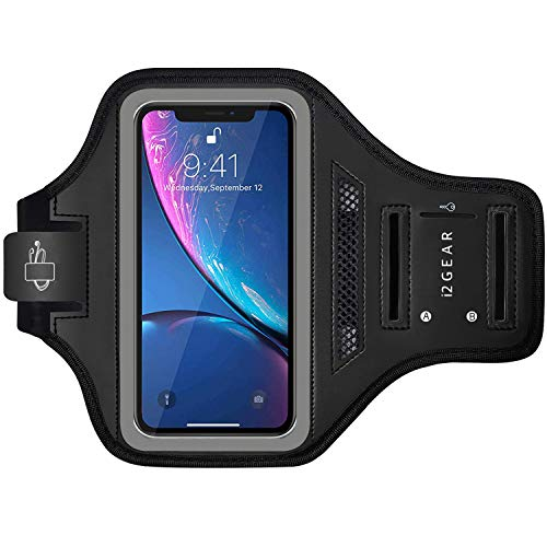 i2 Gear Cell Phone Armband Case - Compatible with iPhone 11, iPhone 11 Pro Max & iPhone XR with Adjustable Band & Key Holder for Running, Exercise and Recreation