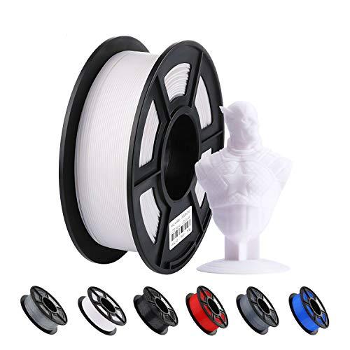 ANYCUBIC PLA Filament für 3D Drucker, Durchmesser 1.75mm, 1 kg Hochpräzise PLA Spool, 340m PLA Filament für 3D-Druckern mit Desktop-FDM- oder FFF-Technologie verwendet werden (Weiß)