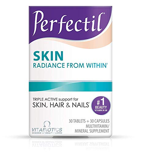 Vitabiotics Perfectil Skin Multivitamin | Skin Radiance from Within | Healthy Formula for Skin Support | Vitamin D, Vitamin E, Collagen, Biotin, and More