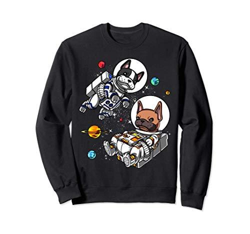 Perro Bulldog Francés Espacio Astronauta Divertido Cósmico Sudadera