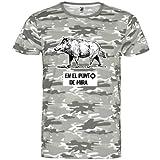 rainUP – Camiseta de Caza – Regalo para Cazador – Camiseta Motivacional jabalí - Día del...