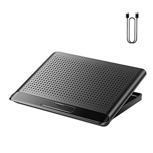 RANGE Under desk Aluminum Alloy Laptop 6 Gears Adjustable Stainless Radiator Bracket Lightweight Portable Cooling Device Hot Drying Bracket Ergonomic (Color : Black 1)