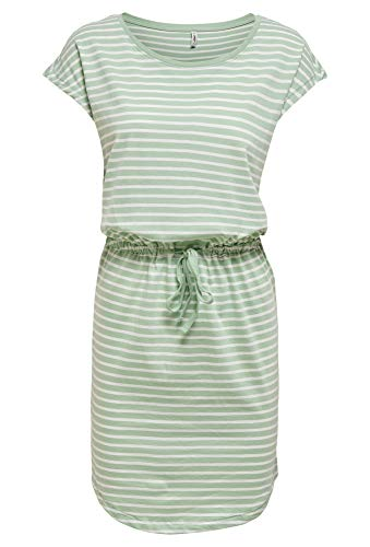 ONLY Damen ONLMAY Life S/S Dress NOOS Kleid, Frosty Green, L