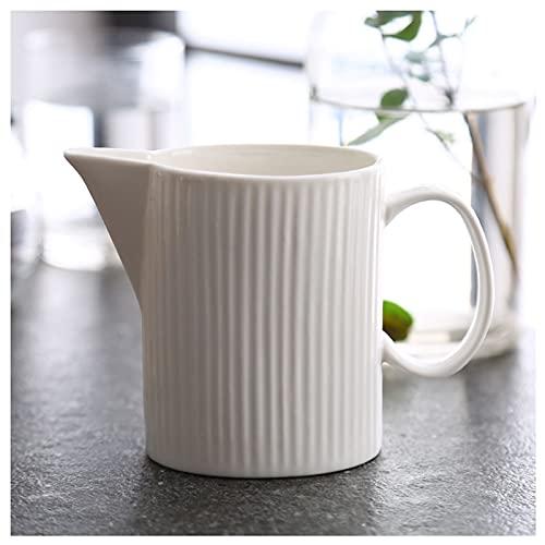 Salsera Simple Color Sólido Copa Leche de Leche Estilo Occidental Pot Sobre Cafetería Leche Leche Vajilla De Cerámica Adecuado Para Salsa Cremaller Maple Syrup Latte Cerámica jarrade leche