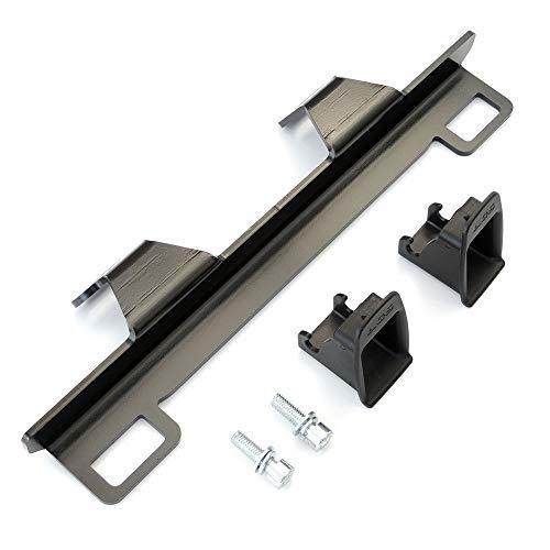 KKmoon Auto Kindersitz Halter Universal Metall Sicherheitssitz Halterung für ISOFIX-Gurtverbinder Sicherheitsgurthalterung für Audi A4 A6