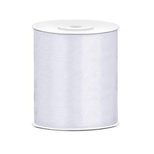 Tischband Satinband weiß, 25 Meter x 10 cm
