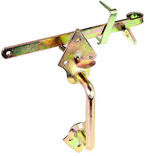 GAH-Alberts 310332 Klinken-Set für Tore, Stahl roh, Länge: 250 mm, galvanisch gelb verzinkt