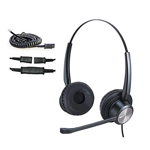 MKJ Cisco Headset with Noise Cancelling Mic Corded RJ9 Telephone Headset for Cisco Phone CP-7821, 7841, 7942G, 7945G, 7960, 7961G, 7962G, 7965G, 7970, 7971G, 7975G, 8811, 8841, 8851, 9951 9971 etc