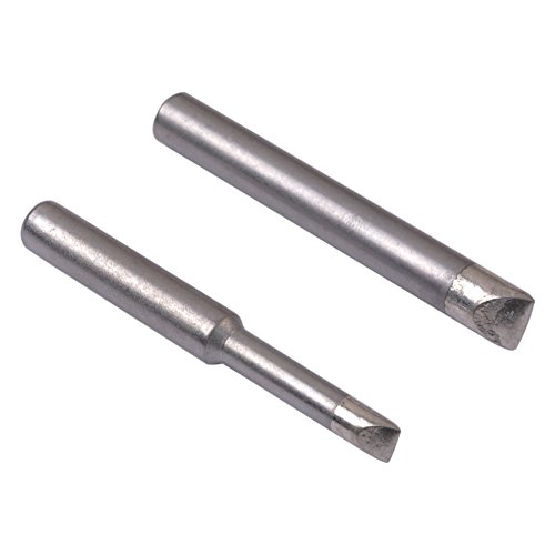 Baitaihem 2 PCS Replacement MTG20 MTG21 CHISEL MT Series Soldering Iron Tip Set for Weller SPG80 / SP80NUS / WLC200