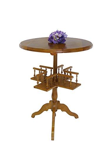 Runder Beistelltisch Tisch Telefontisch Antik Stil D: 60 cm Weichholz (6398)