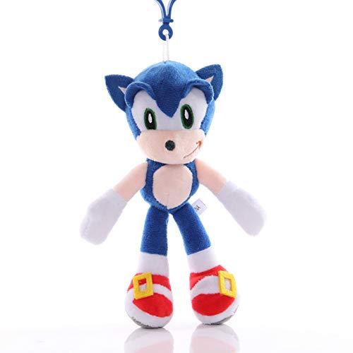 XIFA Sonic el Erizo Juguete Dibujos Animados Azul Sonic Juguetes de Peluche Juego de Anime Hedgehog muñeca Lindo Colgante de Peluche Regalos niños Regalo de cumpleaños