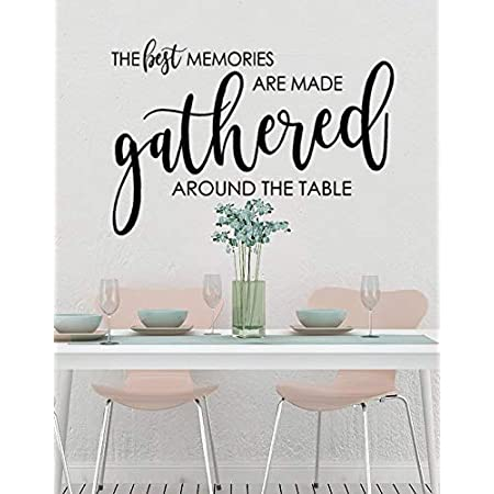 The Best Memories Are Made Gathered Around The Table Modern Farmhouse Wall Decor Kitchen Decor Wall Sign Dining Room Large Canvas Print Art Art Collectibles Prints Kromasol Com