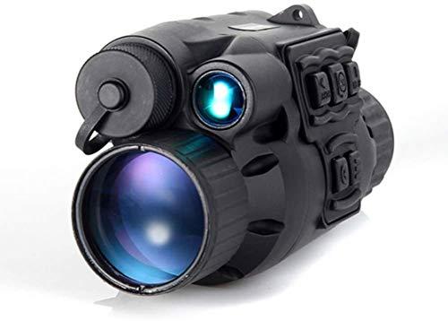 Telescopio Monocular de visión Nocturna,Visión Nocturna HD 720P Alcance infrarrojo Luz LED IR Telescopio monocular Zoom 3x28 Grabación Día Noche Uso CCD Alcance Digital