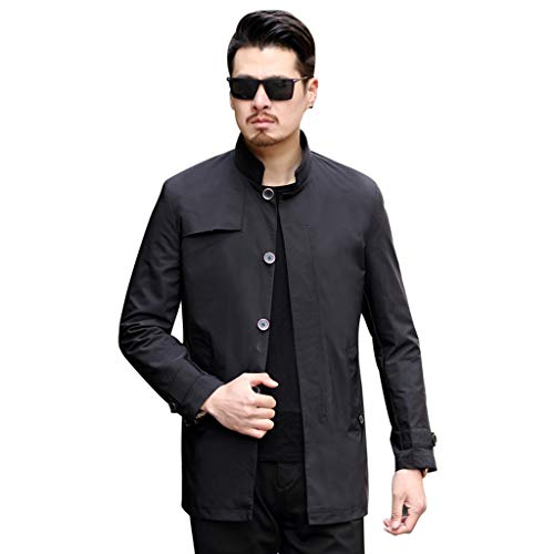 Tops Kerl windjack outdoor vrijetijdsjas voorjaar en zomer kleding voor volwassenen zwarte jas seizoenskleding lentekleding zomerkleding