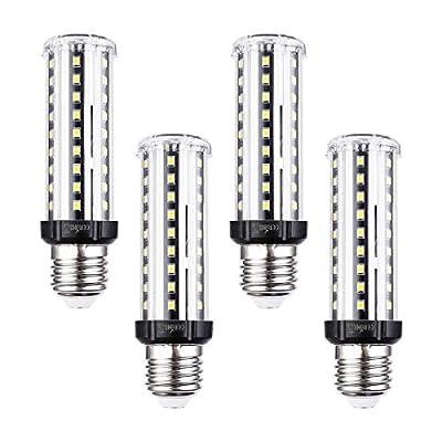 E26 LED Corn Light Bulb, 16W Tubular Light Bulb 100Watt Equivalent 6000K Daylight, 1600 Lumen Super Bright T10 LED Bulb for Desk Lamp Pendant Lights Aquarium, Non-Dimmable, Pack of 4