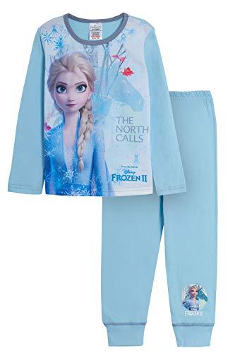 Disney - Pijama infantil de 2 piezas, diseño de Elsa Anna Olaf, conjunto para dormir. Azul Las llamadas del Norte 9-10 Años