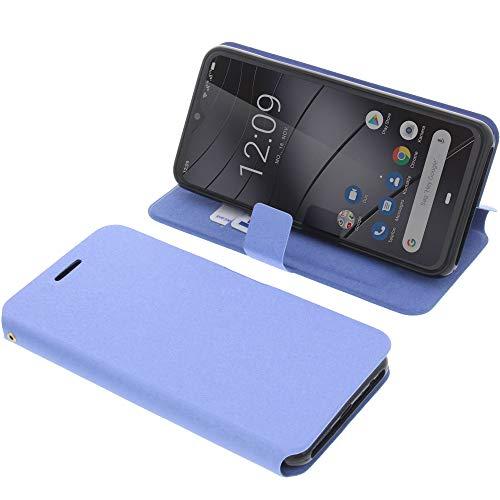 foto-kontor Tasche für Gigaset GS290 Book Style blau Schutz Hülle Buch