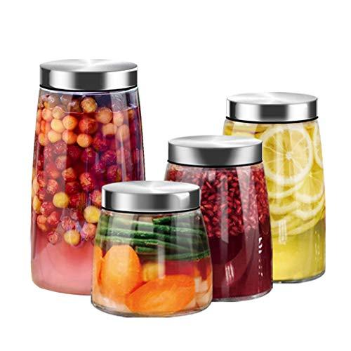 Xiaokeai Close Frischhaltedosen Haushaltsglas Lebensmittel Vorratsbehälter Küche Behälter Glas Vakuum Abdeckung (4 Pack) Frische-Dichtung