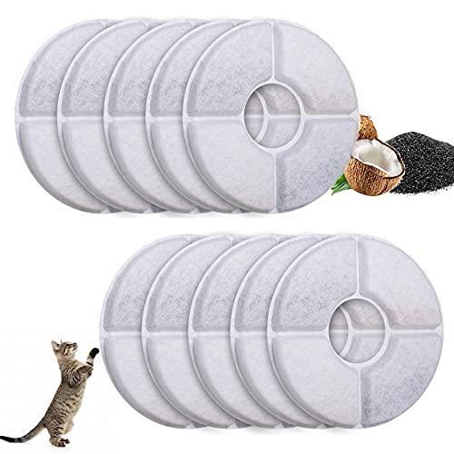 Starlike Ersatzfilter für Trinkbrunnen Wasserbrunnen Ersatzfilter für Katzen und Hunde 10Stück Katzenbrunnen Filter mit Harz und Aktivkohle
