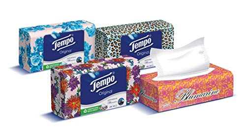 Tütentücher in Box, 4 verschiedene Grafiken, 960 Stück (12 Schachteln mit 80 Taschentüchern)