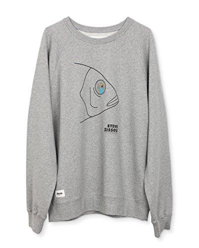 Brava Fabrics - Sweatshirt Herren - Männer Pullover - Grau - Modell Life Aquatic