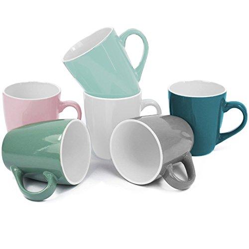 My-goodbuy24 Kaffeetassen 6er Set - 150ml - Kaffeebecher Cappuccinotassen Espressotassen Teetassen Keramik Mug Tassen Becher (6er Set Kaffeetassen)