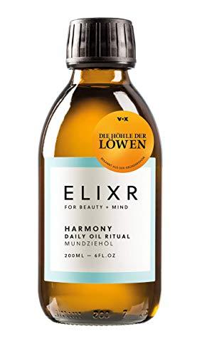 ELIXR Harmony Mundziehöl 200ml aus Die Höhle der Löwen I Krauseminze Grapefruit I Zertifizierte Naturkosmetik I Zahnöl, Öl Ziehen, Mundspülung