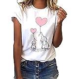 MINXINWY Camisetas de Mujer Tallas Grandes, Cute...