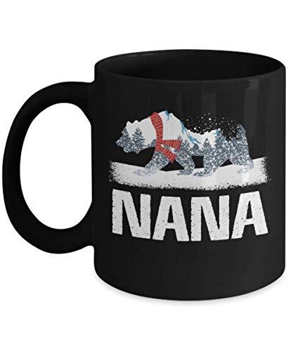 shenguang NANA Christmas Bear Plaid Pajama café Jarra, NANA Bear Pajama SANTA Christmas Gift