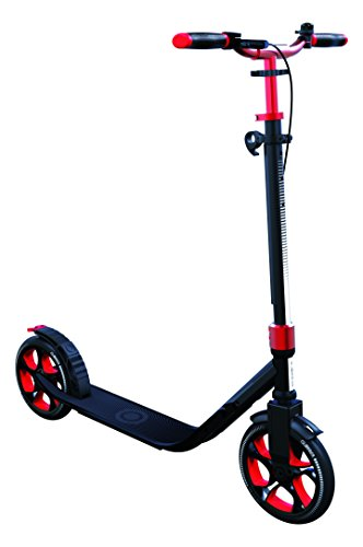 Globber One NL 205 Deluxe Scooter-Titanium and Ruby Red Patinete Ultimate, Unisex, Rojo Rubí