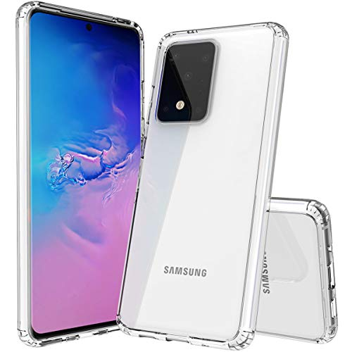 Galaxy S20 Ultra Case, OUBA [Shock Absorbing] Air Hybrid Slim Thin Shockproof Armor Anti-Drop Crystal [Clear] Back + TPU Bumper Protective Case Cover Compatible for Samsung Galaxy S20 Ultra - Clear