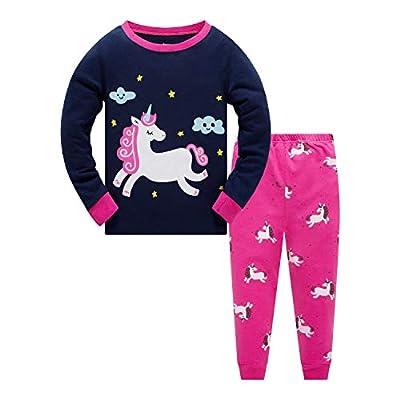 Qzrnly Girls Pajamas 100% Cotton Long Sleeve Pj...
