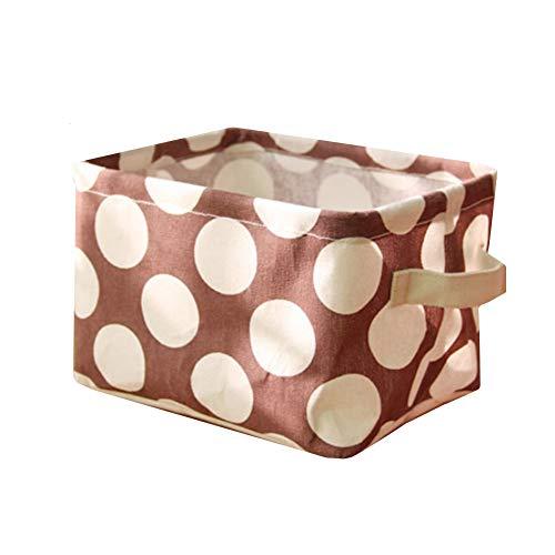Lidylinashop Cajas de almacenaje Decorativas niños Cesta almacenaje baño Cestas de Almacenamiento para armarios Cestas de Almacenamiento para estantes Coffee