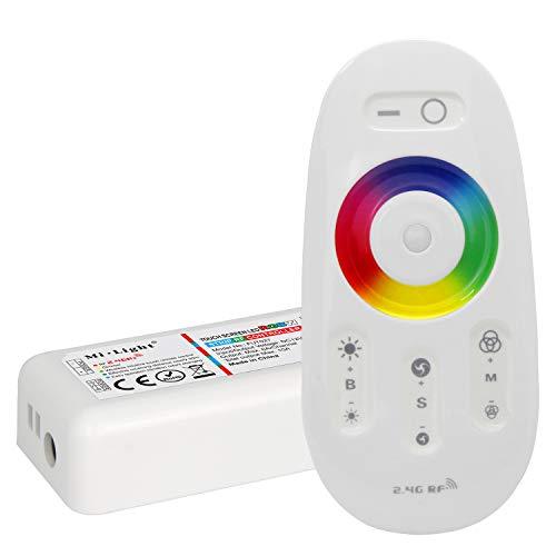 LIGHTEU®, 2,4GHz LED Fernbedienung und HF Controller für die RGBW LED Streifen (RGB + Weiß), Milight Miboxer fut027