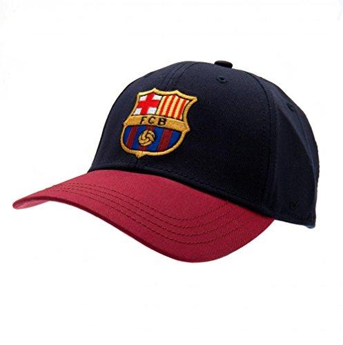 FC Barcelona Football Club Cotton Baseball Cap Hat Blue Maroon Badge Official