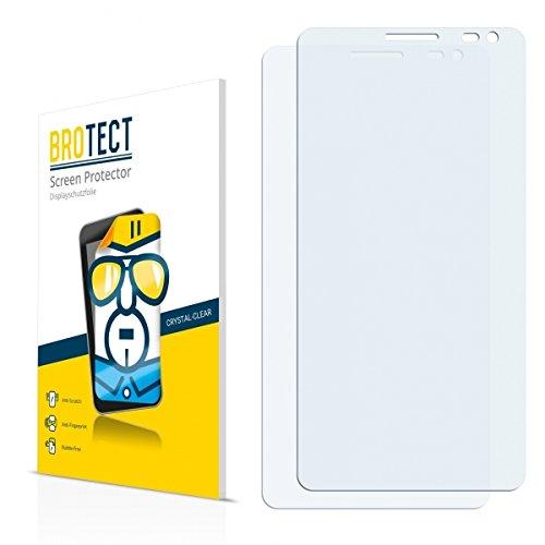 2X BROTECT HD Clear Displayschutz Schutzfolie für Huawei Ascend D2 (kristallklar, extrem Kratzfest, schmutzabweisend)