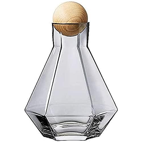 Juego de Vaso Decantador de Vidrio para Whisky, Vodka, Vino, Puerto, Borbón, Escocés, Decantador de Vino Sin Plomo, Jarra Decantador de Vino Tinto