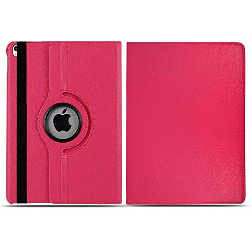 Schutzhülle für iPad 9,7 Zoll (2018/2017 6. / 5. Generation) 360 Leder Wallet Flip Smart Folio Cover für iPad Air, iPad Air2, iPad Pro 9,7 Zoll (Pink)